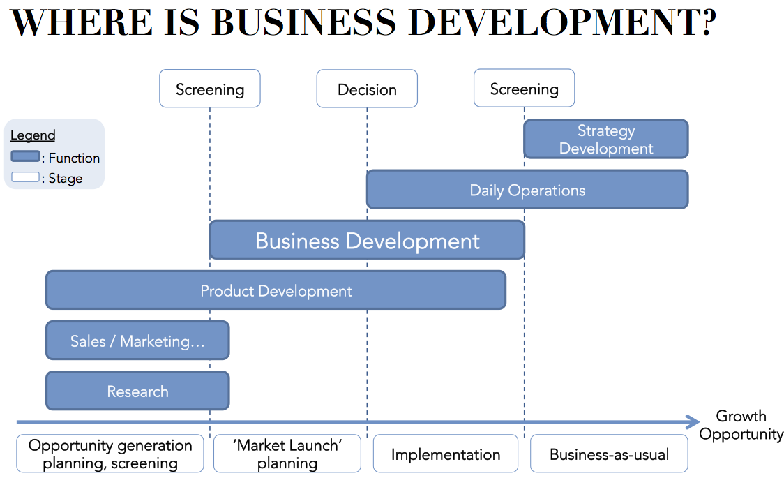 Business development business development by eibe mgmt for Company product development