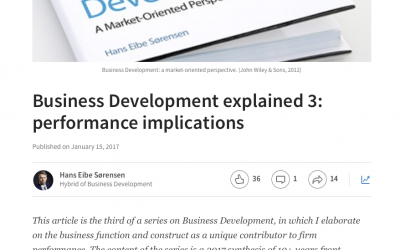 Business Development explained – new article series on LinkedIn / Pulse