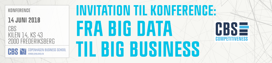 FRA BIG DATA TIL BIG BUSINESS KONFERENCE – 14 JUNI 2018